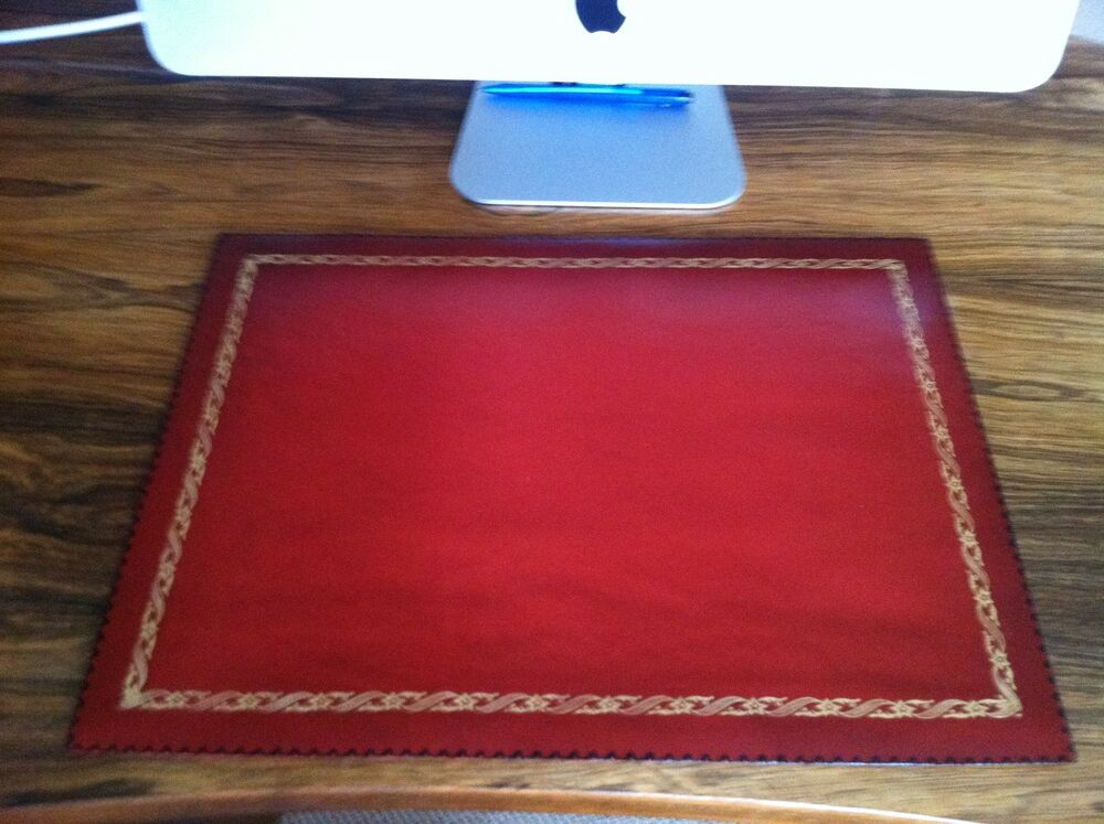 Luxury Hand Made Leather Desk Pad Mat Style No 13 Ebay