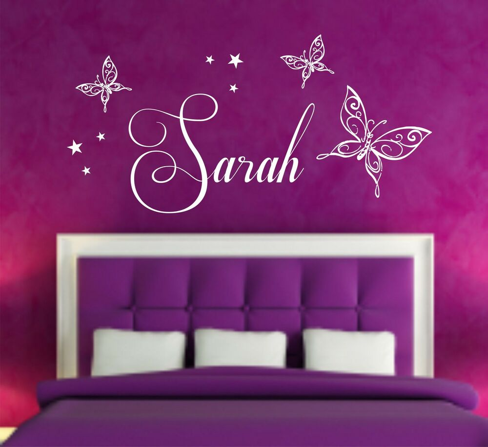 28 personalised bedroom wall stickers personalised star personalised bedroom wall stickers your name personalised wall art stickers butterflies with