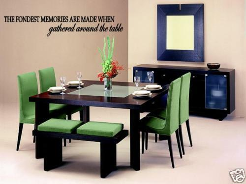 Fondest Memories Kitchen Dining Room Wall Decal Lettering