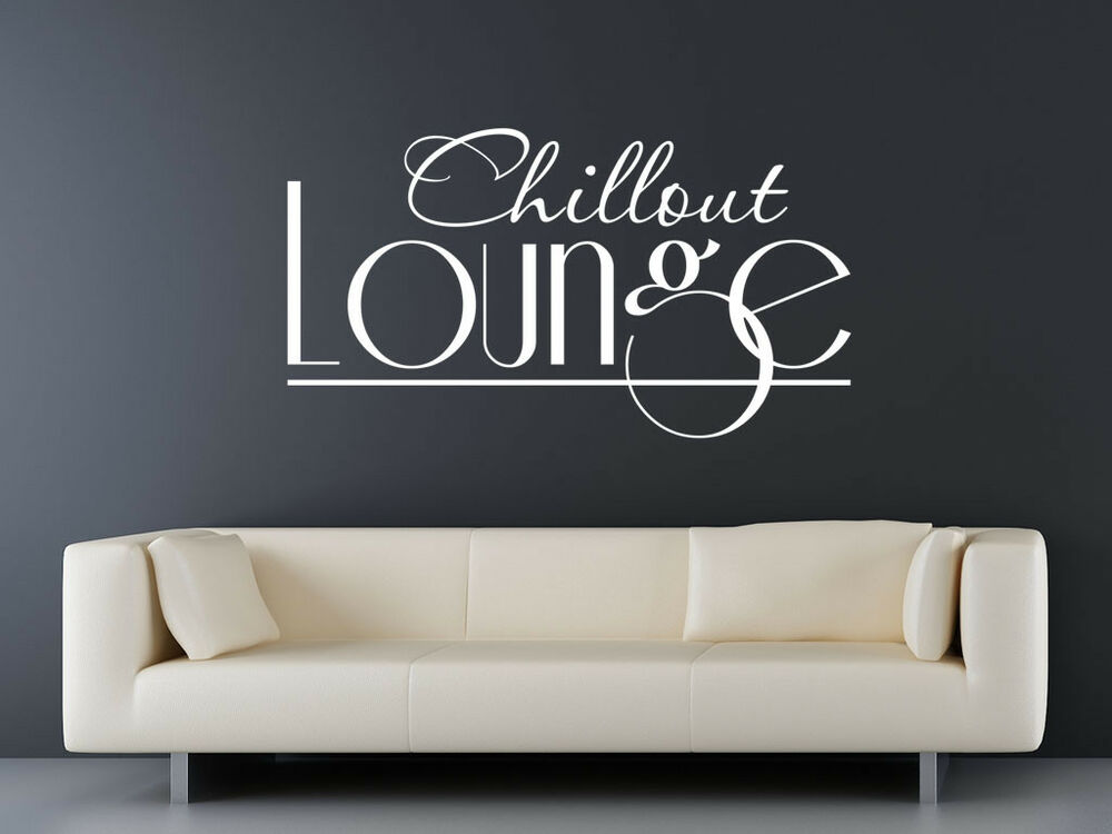 s149 xxl wandtattoo chillout lounge wohnzimmer wandaufkleber couch g2 ebay. Black Bedroom Furniture Sets. Home Design Ideas