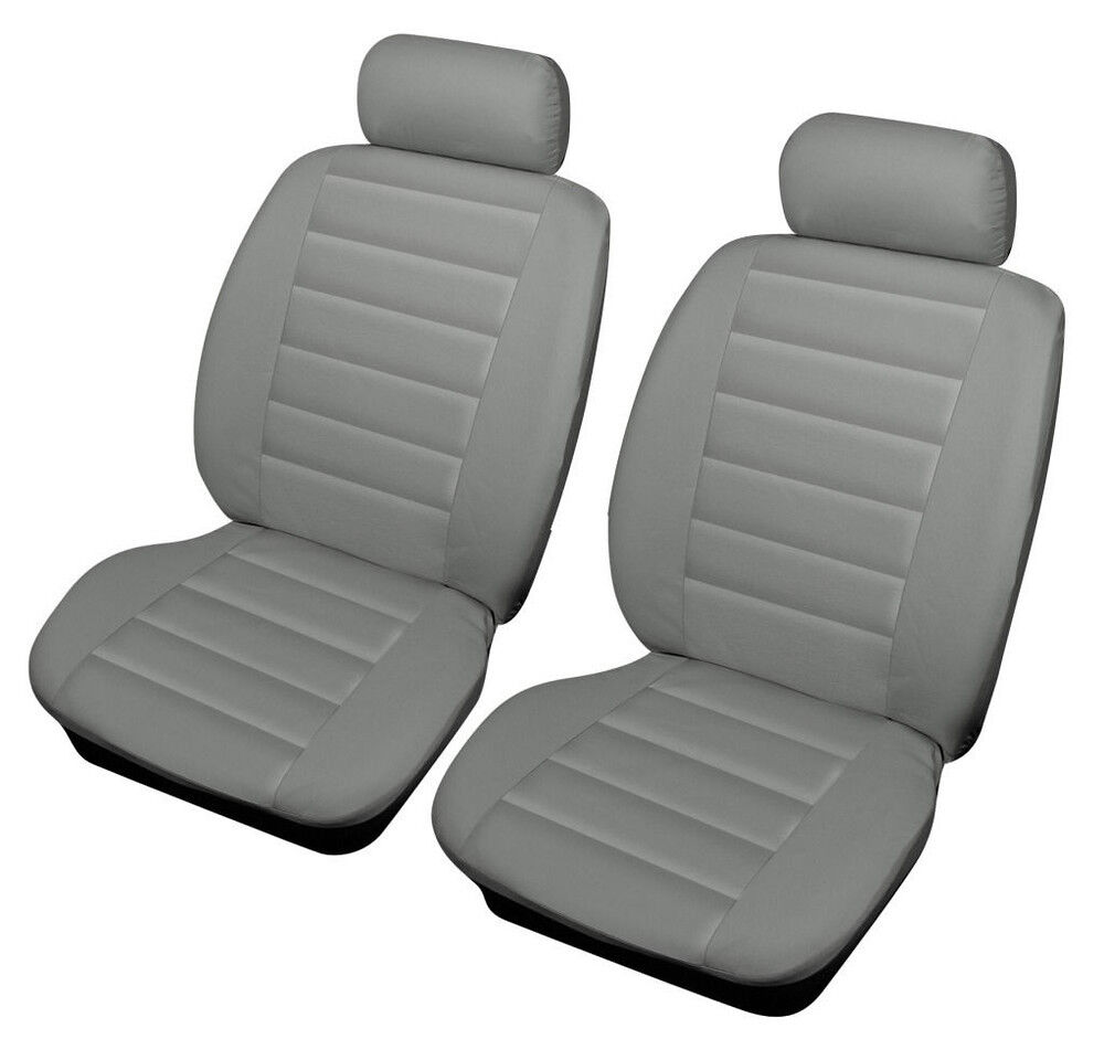 vw new beetle 99 on beige front leather look car seat covers airbag ready ebay. Black Bedroom Furniture Sets. Home Design Ideas