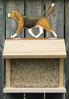 Bird Feeder W/ Beagle on Peak. Home,Yard & Garden Dog Design Products & Gifts.