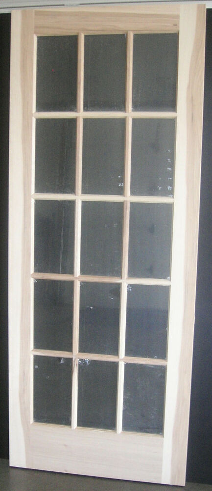Hickory 15 Lite Interior French Door (true Divided Lite) w\/flat clear temp glass  eBay