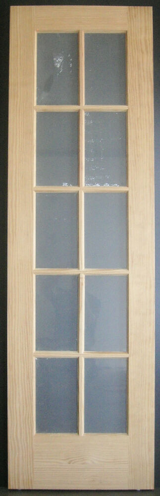 Vertical grain pine 10 lite tdl french interior door with frosted temp glass ebay for Interior french doors opaque glass