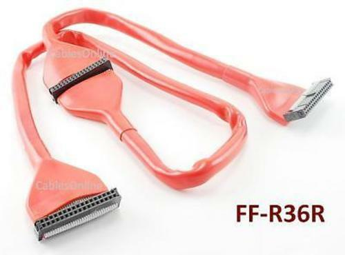 34 Pin Ribbon Cable : Inch pin round idc floppy drive device red cable