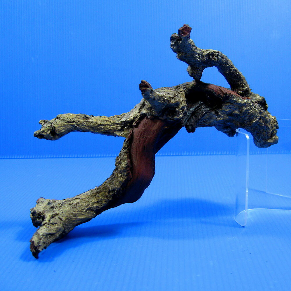 Tree trunk aquarium ornament driftwood poly resin 7 5lx4 h for Fish tank driftwood