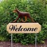 Doberman Welcome Sign Stake. Home, Yard & Garden Decor Dog Wood Products & Gifts