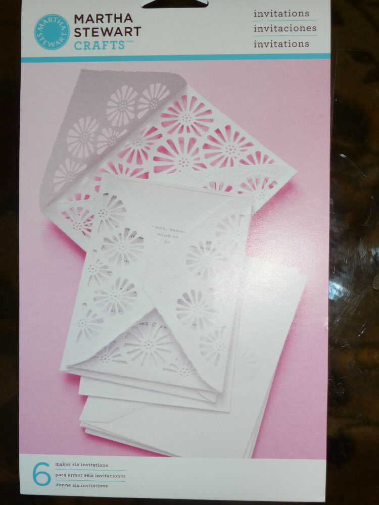 Martha stewart crafts formal invitations cards brand new for Wedding invitation kits martha stewart