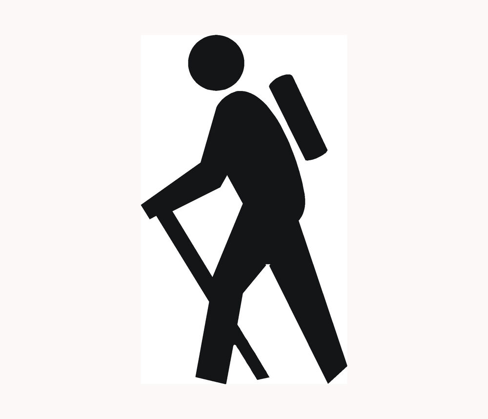 HIKER Icon Sticker Car Window Vinyl Decal Hiking Camping ...