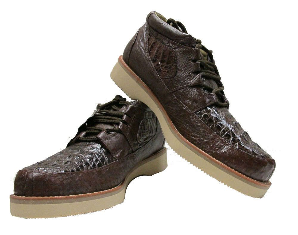 Men's Alligator Genuine Crocodile and Ostrich Skin Sneaker ...