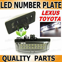 TOYOTA License Number Plate Lights LED Lamp Replace OEM Bulbs Part XENON WHITE