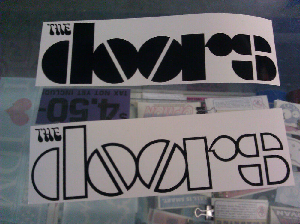 Bumper Car Images >> The DOORS Rock Band Decals Sticker Vinyl Bumper SET of 2 | eBay