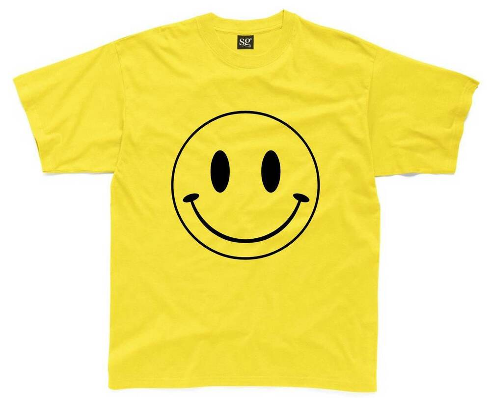 smiley face mens t shirt s 3xl printed retro acid house. Black Bedroom Furniture Sets. Home Design Ideas