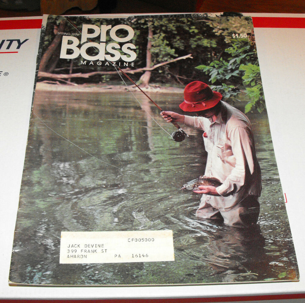 Bass pro fishing magazine spring 1976 volume 3 issue 2 ebay for Bass fishing magazine