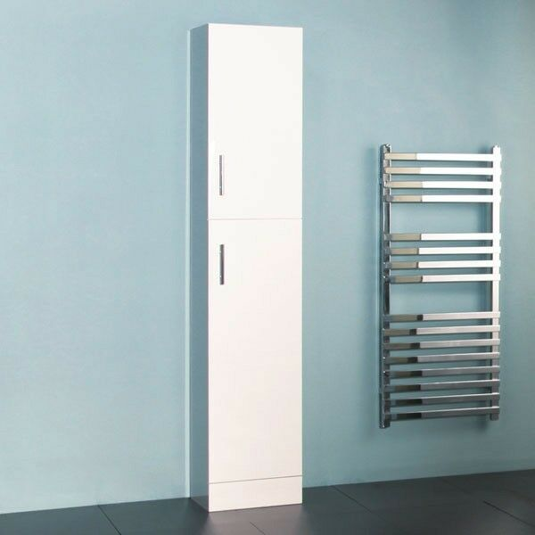 Classic 1900mm x 350mm Tall White Bathroom Cabinet Storage