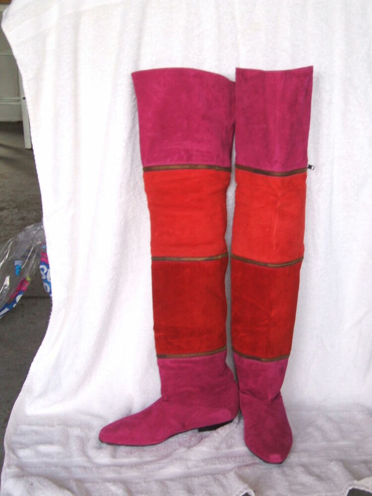 womans multi colored suede boots ebay