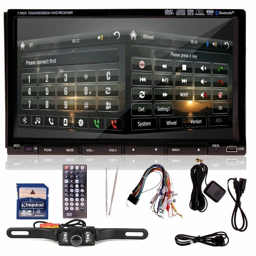 "New 7"" HD LCD Double DIN Car GPS Stereo DVD Player Touch"