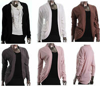 Women/Junior Long Sleeve OPEN CARDIGAN Layering Slouchy Knit Jacket new