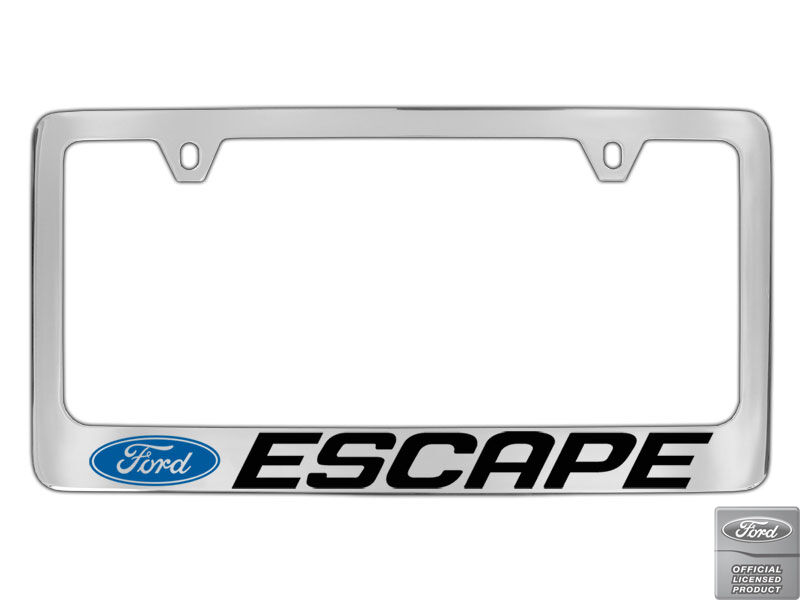 Ford Escape 1 Logo Chrome Plated Brass Metal License Plate