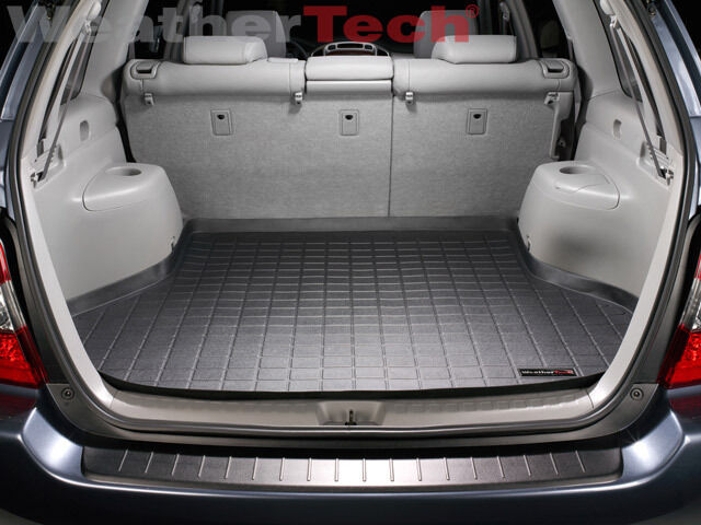 weathertech cargo liner trunk mat for toyota highlander 2001 2007 black ebay. Black Bedroom Furniture Sets. Home Design Ideas