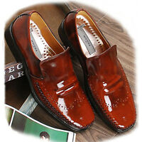 New Leather Mens Dress Formal Shoes Slip On Loafers Brown Casual Limited