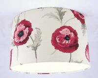 "14"" Lampshade Handmade in UK - Laura Ashley Freshford Poppy Fabric"