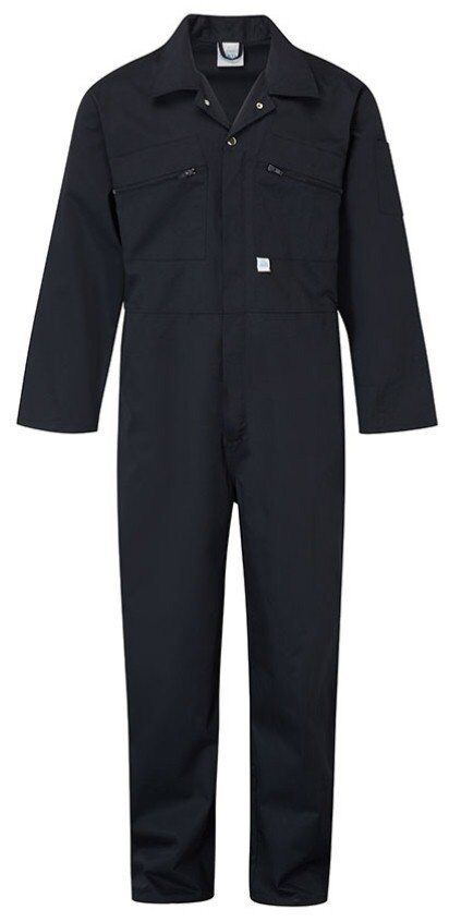 mens blue castle zip front boiler suit overall coverall