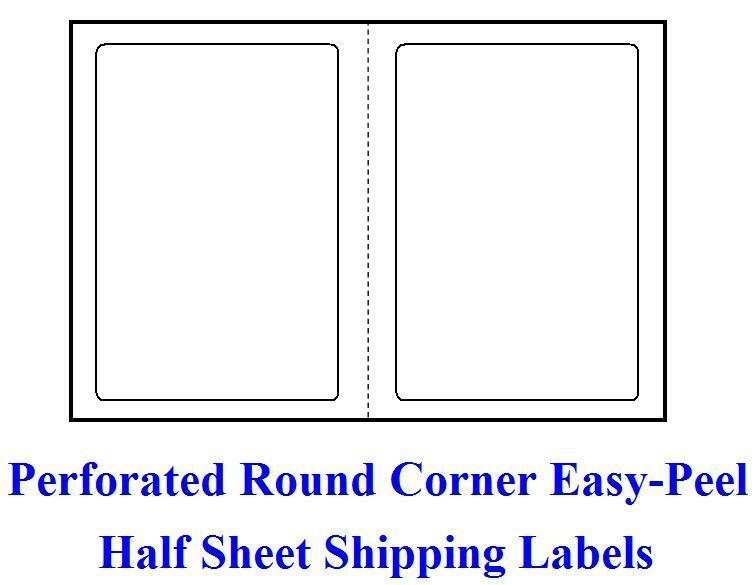Blank printable shipping labels bing images for Half page shipping label template