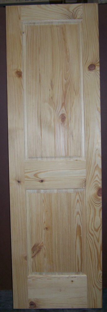 Knotty Pine 2 Panel Interior Door Raised Panel V Grooved