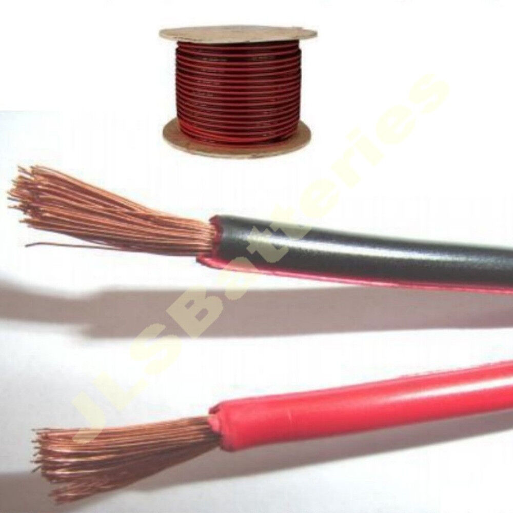 100m reel red black electrical cable car home wire 10a meter 32 10 amp ebay. Black Bedroom Furniture Sets. Home Design Ideas