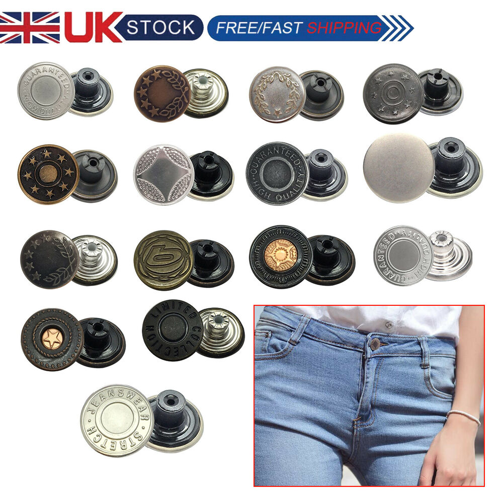 Lighting Basement Washroom Stairs: 8 X 17mm Jeans Studs Buttons In Gun Metal With Pins Hammer