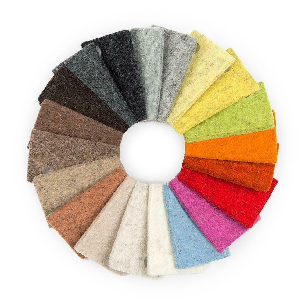 Sample bag of 3mm thick designer felt earth tones ebay