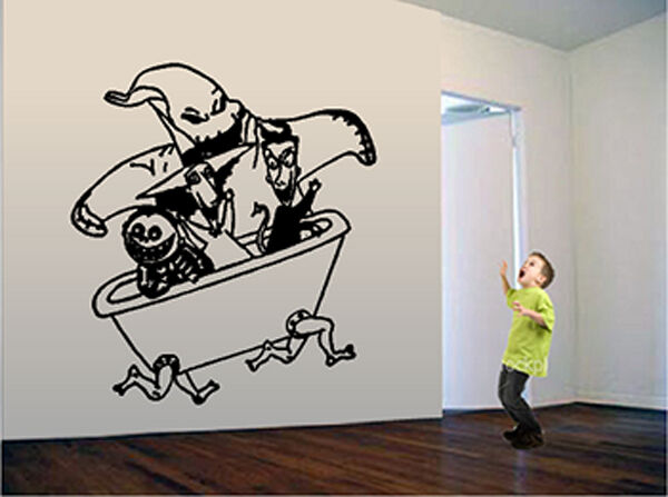 nightmare before christmas oogie boogie wall decal ebay. Black Bedroom Furniture Sets. Home Design Ideas