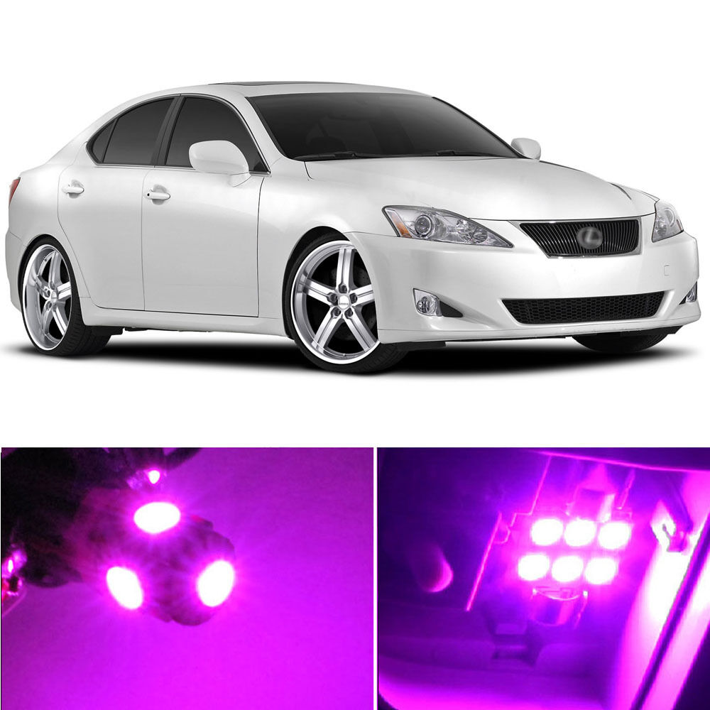 14 x premium hot pink led lights interior package kit for lexus is250 is350 ebay. Black Bedroom Furniture Sets. Home Design Ideas