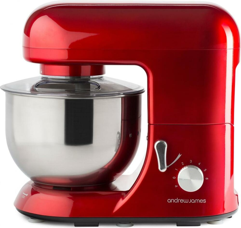 Andrew James 5.2L Electric Food Stand Mixer & Food Guard ...