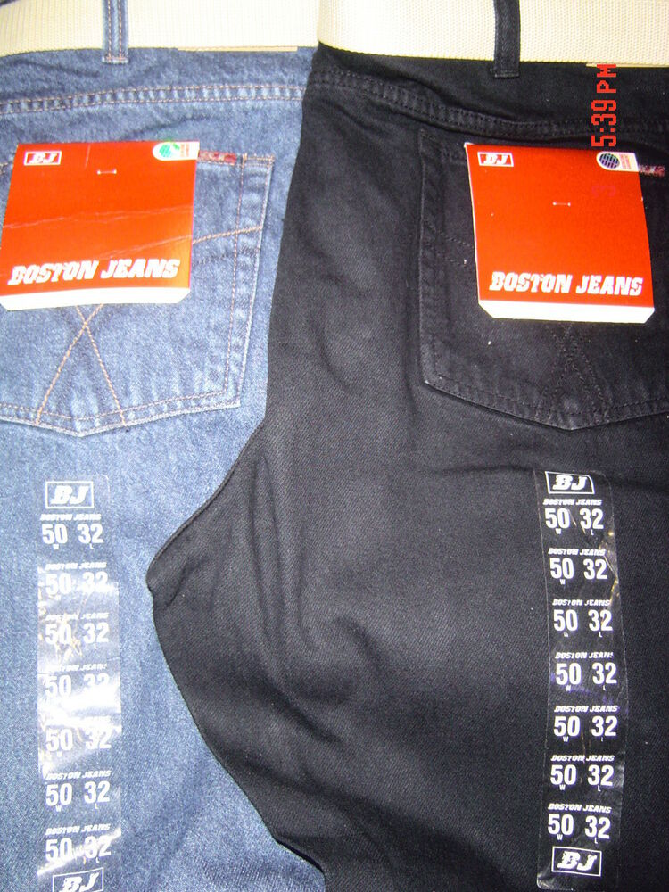 boston strong mens casual jeans size 42 56 waist bnwt 30 32 34 leg straight ebay. Black Bedroom Furniture Sets. Home Design Ideas