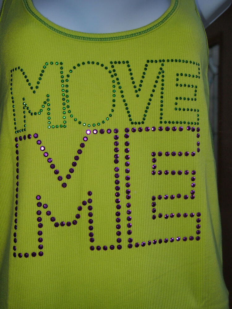 Zumba Move Me Studded Ribbed Tank Zumbawear Top XXL  or S save a dog