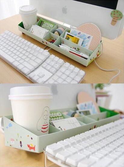 desk paper organizer diy paper stationery makeup comestics pen desk organizer 14687