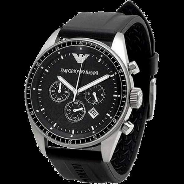 a8b28e7e7c9 Details about NEW IN BOX Emporio Armani AR0527 Mans Watch Black Dial Rubber  Band w Box