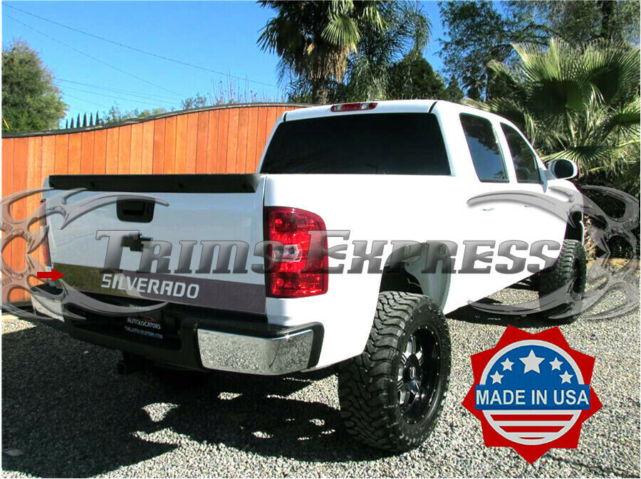2007 2013 chevy silverado tailgate trim molding outline stainless steel accent ebay. Black Bedroom Furniture Sets. Home Design Ideas