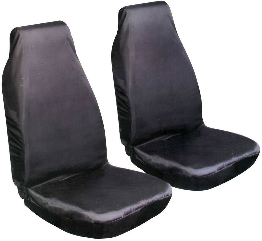 Heavy Duty Front Seat Covers AC770 Black For Cars With