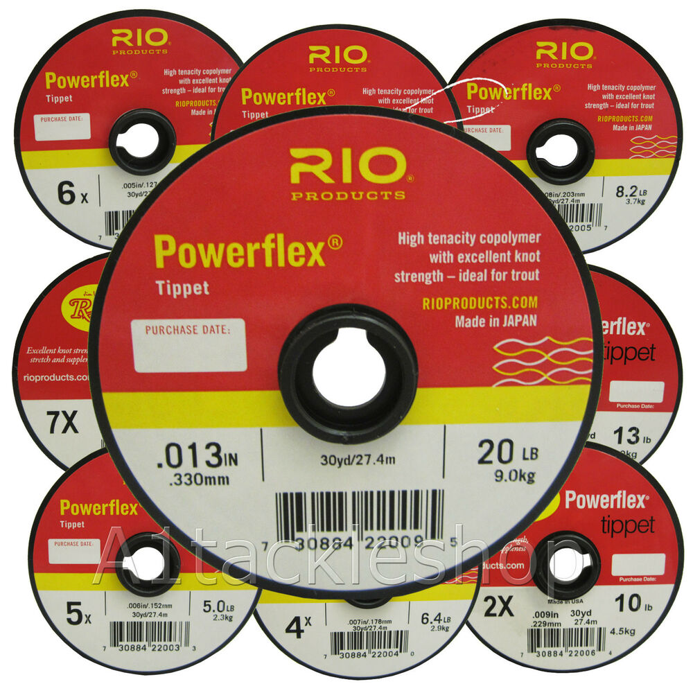 Rio powerflex tippet 30yd copolymer tippet fly leader for How to make fishing leaders
