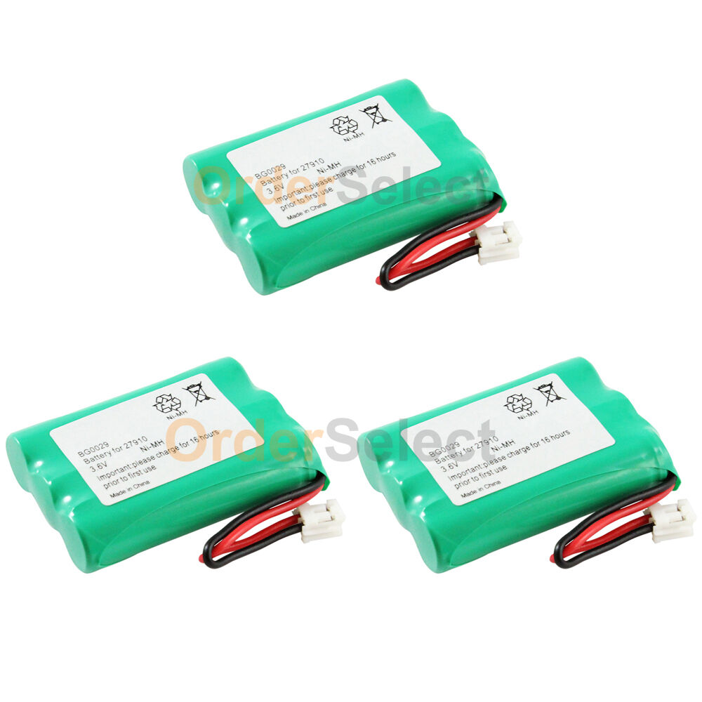 3 new oem bg0029 bg029 cordless home phone rechargeable replacement battery pack ebay. Black Bedroom Furniture Sets. Home Design Ideas