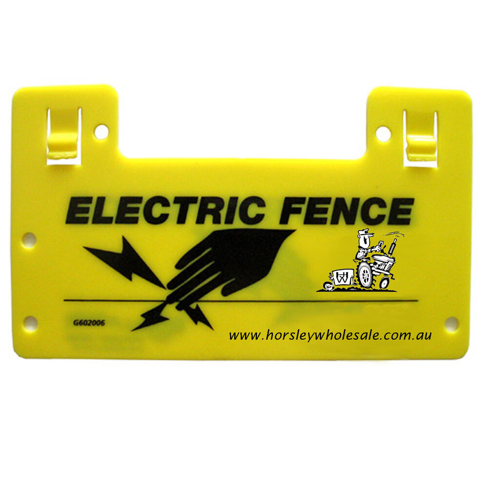 1x Electric Fence WARNING SIGNS RRP$19.00 Horsley