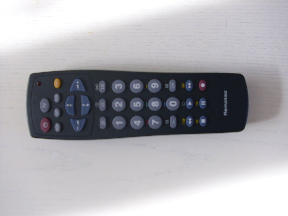 Remotec tv vcr sat universal remote control ebay for 1000 in 1 universal a c remote code table