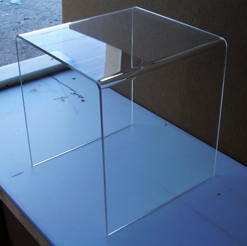 1 4 clear acrylic lucite plexiglass mini end table 12 x. Black Bedroom Furniture Sets. Home Design Ideas