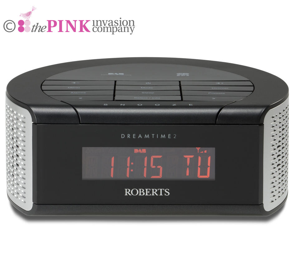 roberts dreamtime 2 dab digital fm alarm clock radio 2x alarms snooze 20 presets ebay. Black Bedroom Furniture Sets. Home Design Ideas