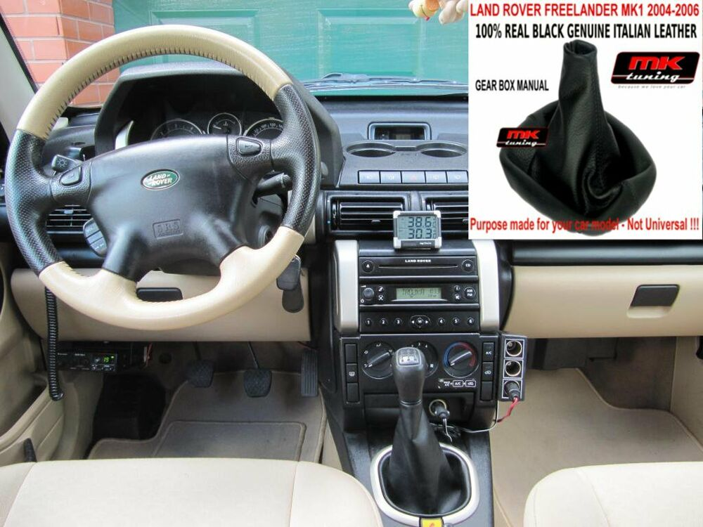 FREELANDER 2004+ GEAR SHIFT GAITER GAITOR COVER LEATHER ...