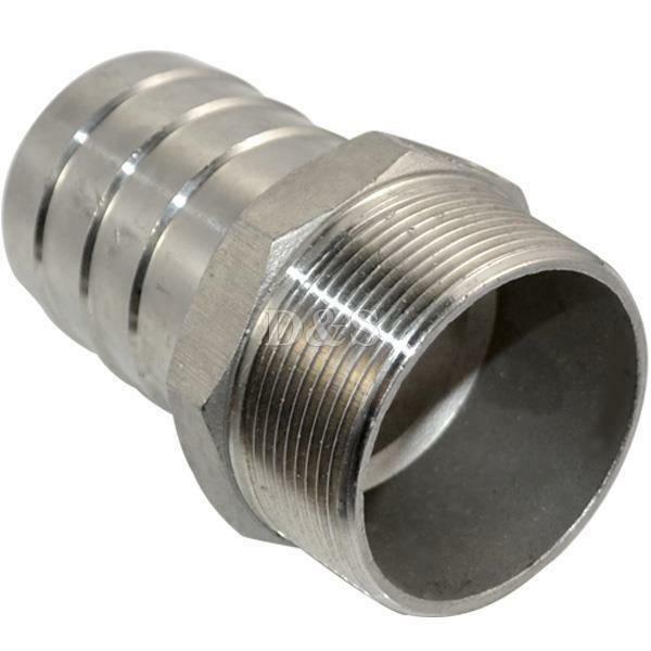 Stainless steel quot male thread pipe fitting mm