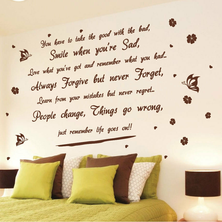 life goes on wall art quotes wall stickers wall decals yesterday wall sticker wall quotes wall stickers